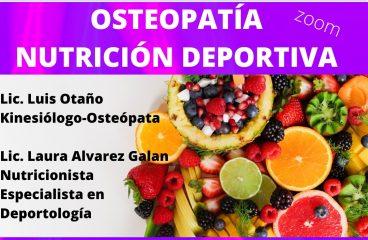 AULA ABIERTA – Osteopatía y Nutrición Deportiva