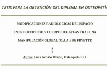 Tesis: Modificaciones radiológicas del espacio entre occipucio y cuerpo de atlas